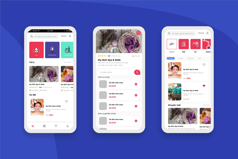 Beauty Spa Service App Mobile