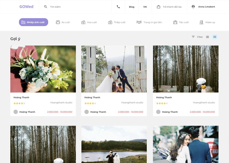 Wedding Service Website